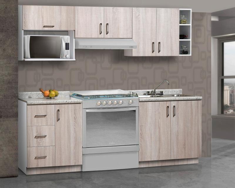 Cocina Gris 240 Cm Con 8 Puertas 3427933 Coppel Cocina Gris Muebles Sillas Pintadas