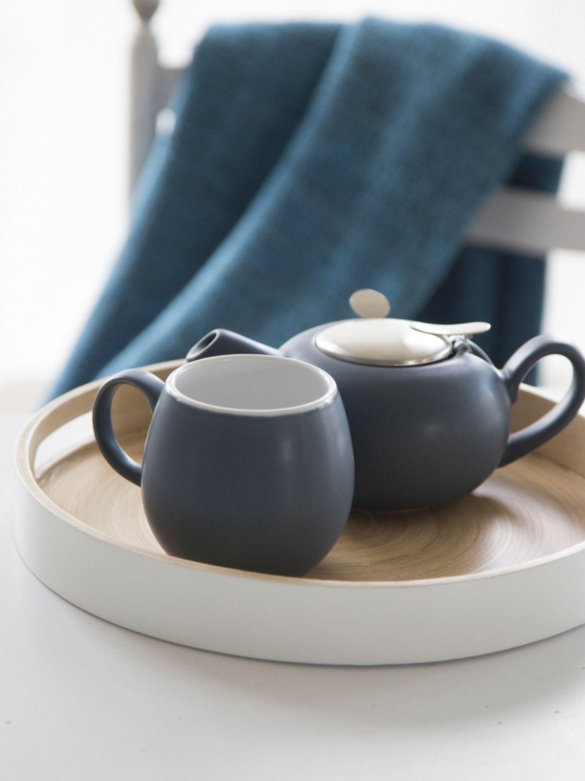 Mug en céramique bleu canard | Vaisselle design, Service de table moderne, Vaisselle