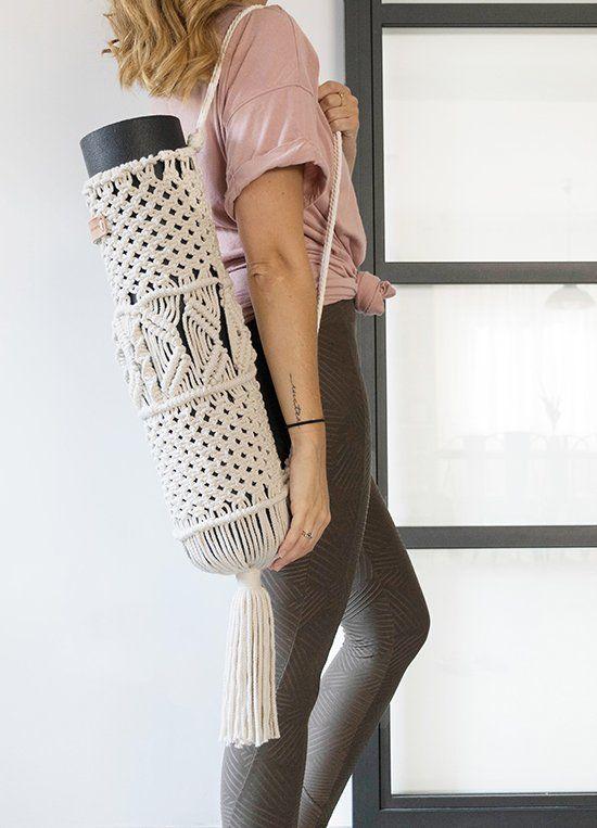 Image of Porta Yoga Mat de Macramé