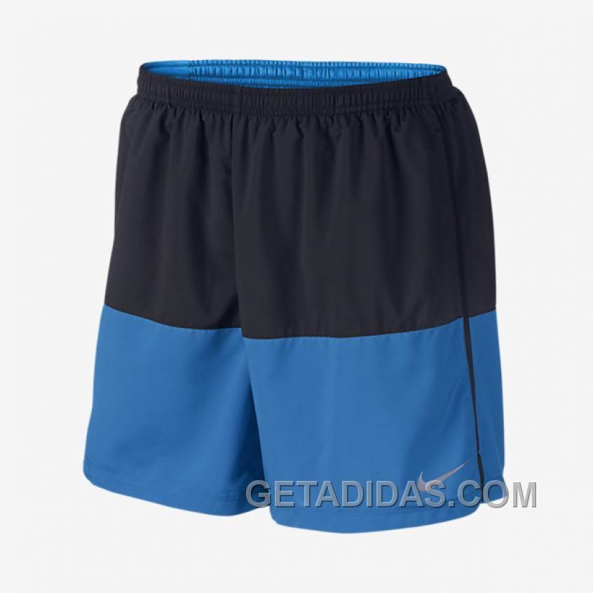 Nike 7 Distance SchwarzLicht Photo Blau  Running Shorts