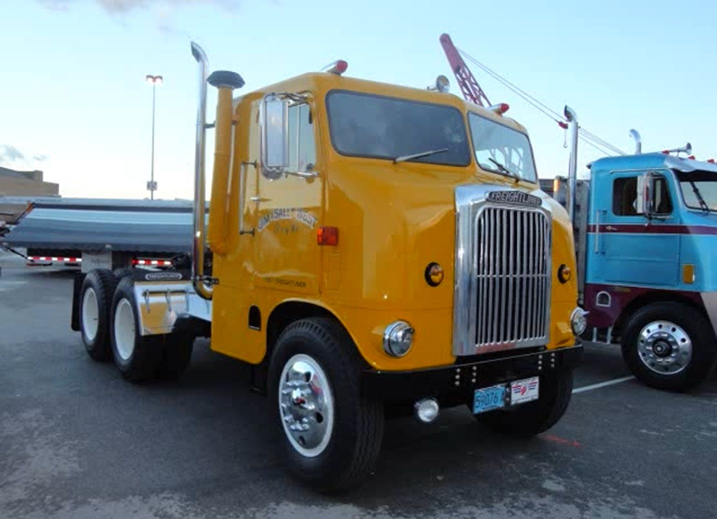 COE Freightliner Orange Trucks