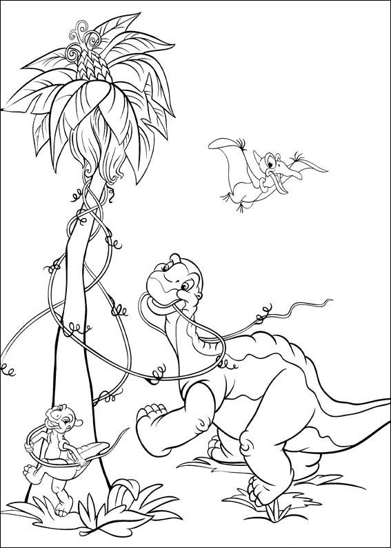 The Land Before Time Coloring pages for kids Printable Online