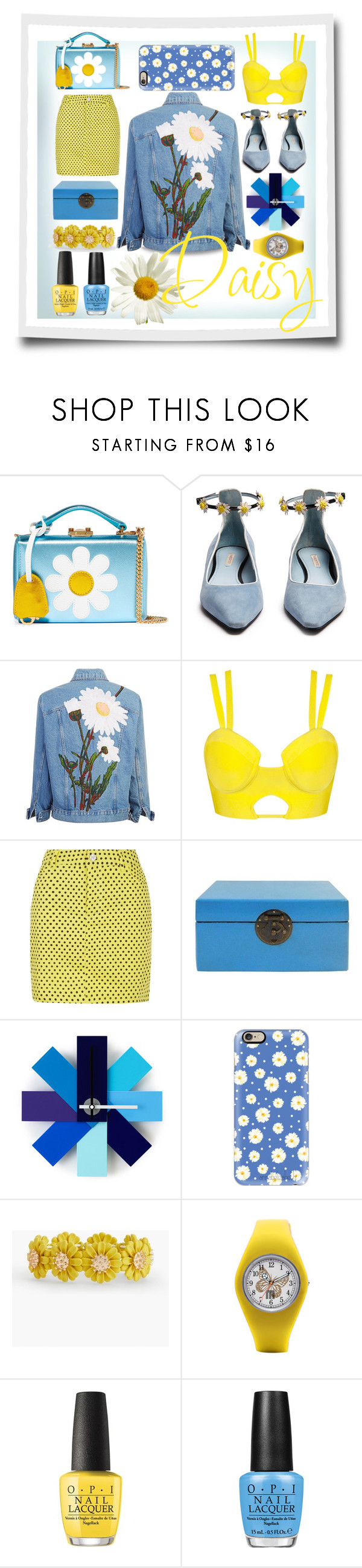 """Daisy Love ❤️"" by city-mom ❤ liked on Polyvore featuring Mark Cross, Fabrizio Viti, Normann Copenhagen, Casetify, Talbots, OPI, Daisy and forfun"