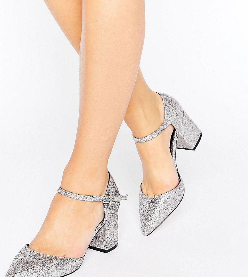 1641b9cba3cd ASOS SORAYA Wide Fit Pointed Glitter Heels - Multi