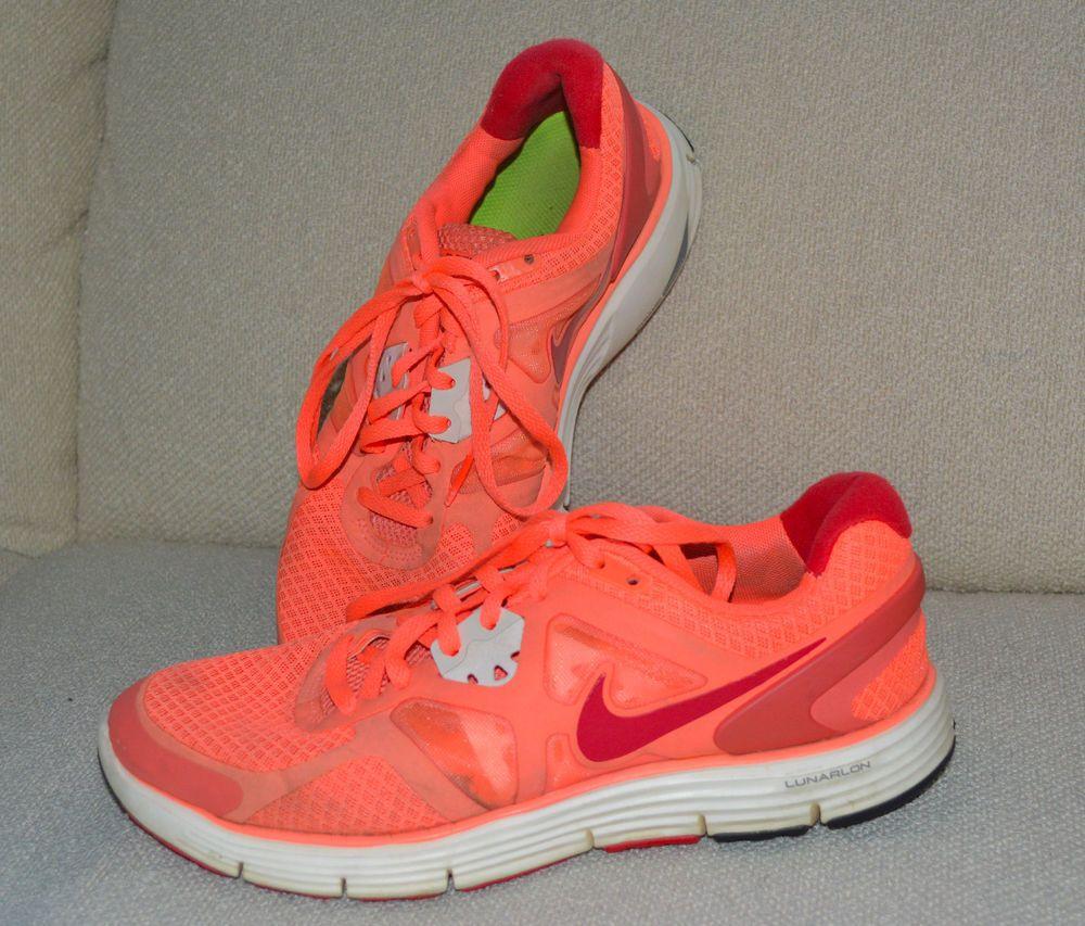 Womens NIKE LUNARGLIDE 3 Running Shoes SNEAKERS Bright Mango 454315 860 7.5  #Nike #RunningCrossTraining