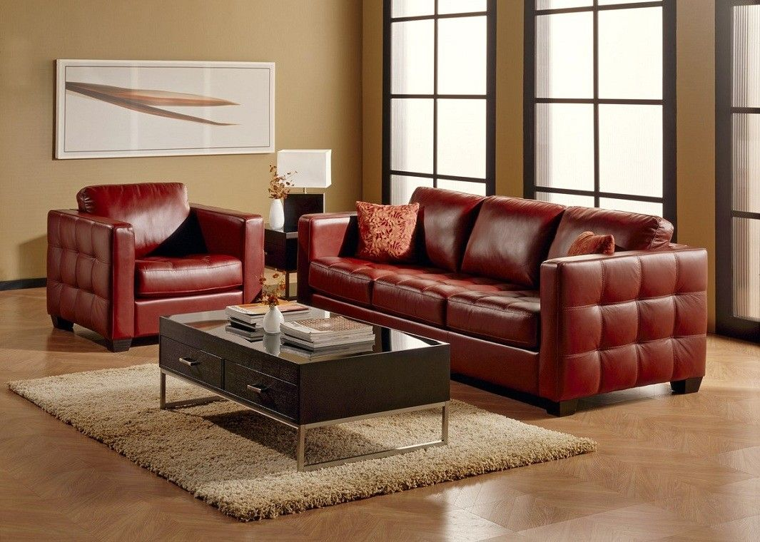Dark Red Leather Sofa In 2020 Red Leather Sofa Top Grain Leather Sofa Leather Sofa Decor