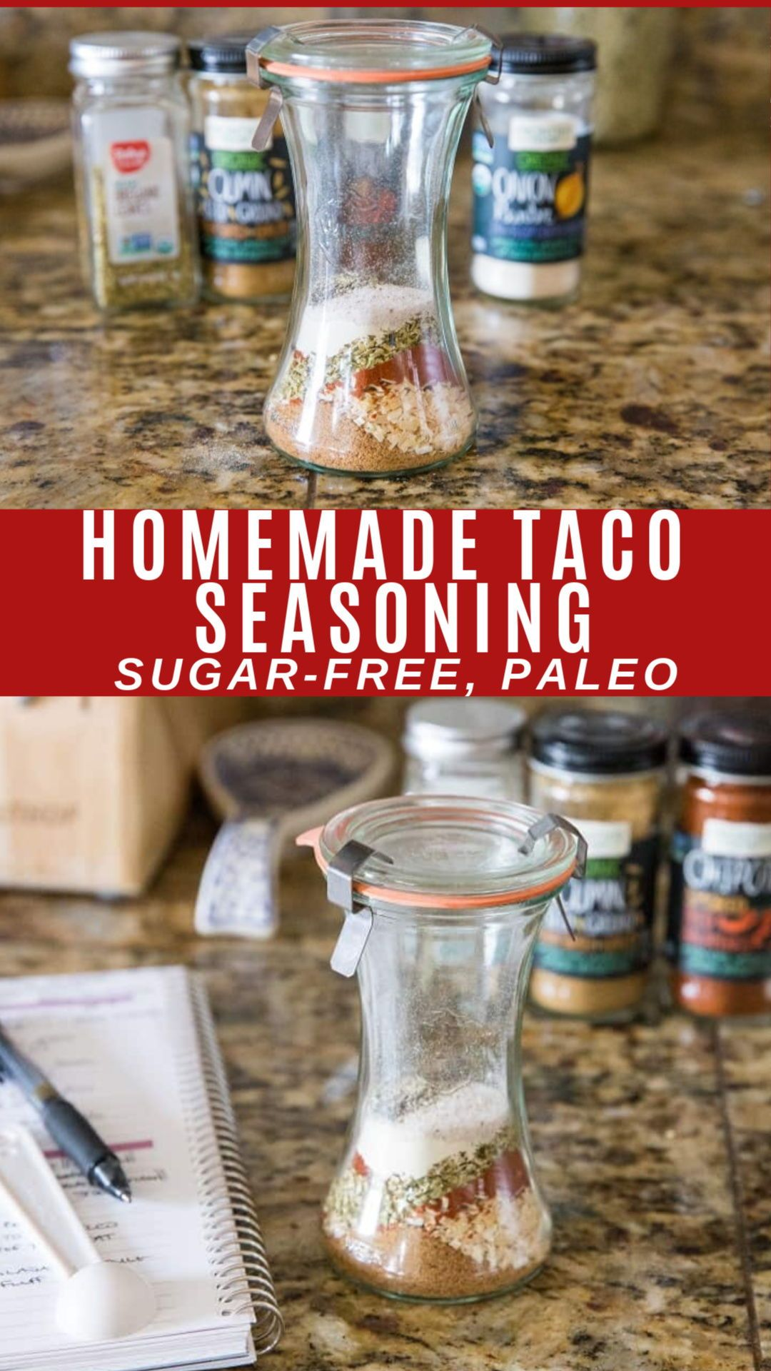 Homemade Taco Seasoning (refined sugar-free)