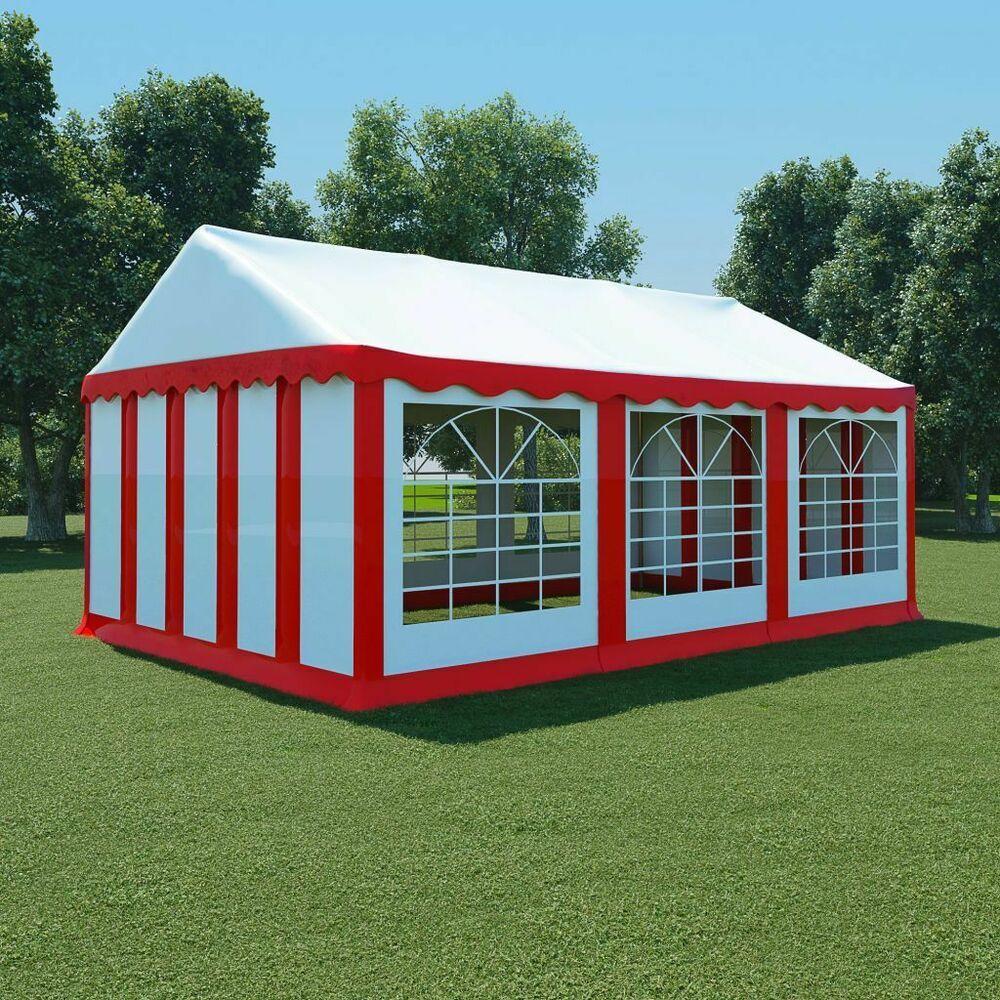 Ebay Sponsored Vidaxl Chapiteau De Jardin Pvc 4x6 M Rouge Et