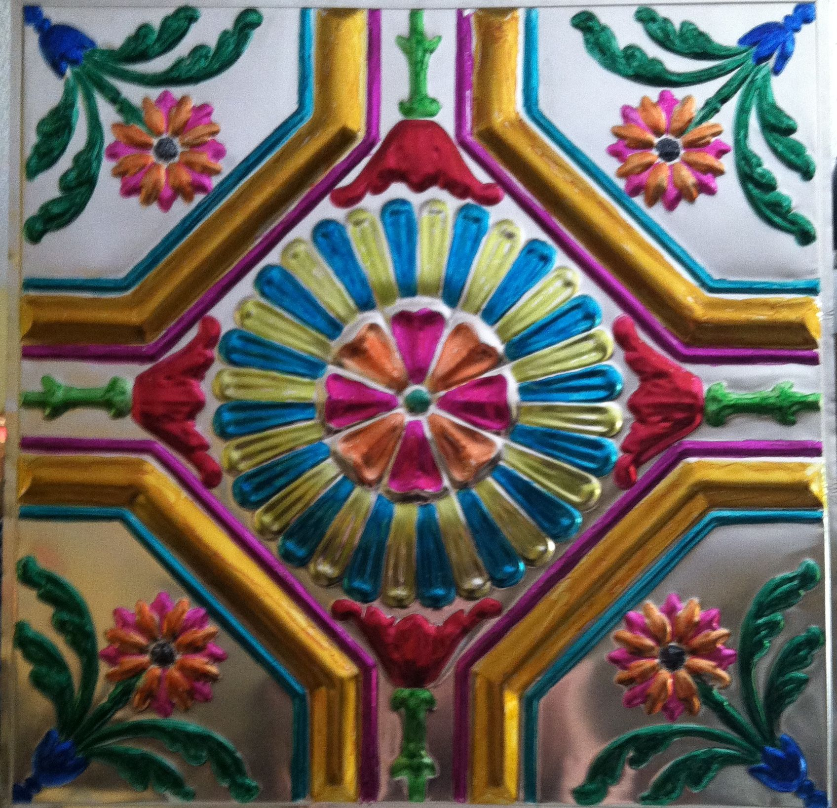 Painted tin ceiling tiles with alcohol inks dia de los muertos painted tin ceiling tiles with alcohol inks dailygadgetfo Image collections
