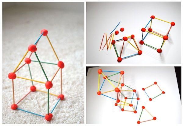 Juegos Infantiles Construcciones 3d Fáciles Pequeocio Formas De Aprendizaje Figuras Geometricas Para Niños Juegos Con Material Reciclado