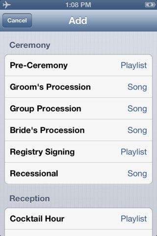 WeddingDJ is the best way to run the music for your wedding on your iPhone or iPod touch and save $$