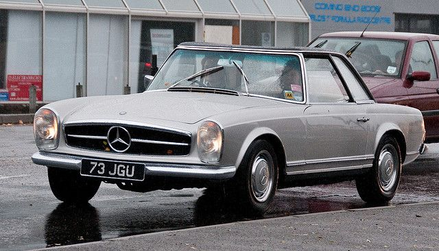 1960s Mercedes Sl Pagoda Roof Post Veteran Classics On The 2009 London To Brighton Car Run