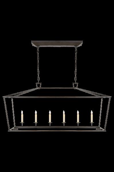 Darlana Large Linear Lantern Visual Comfort Lighting Visual Comfort Ceiling Lights