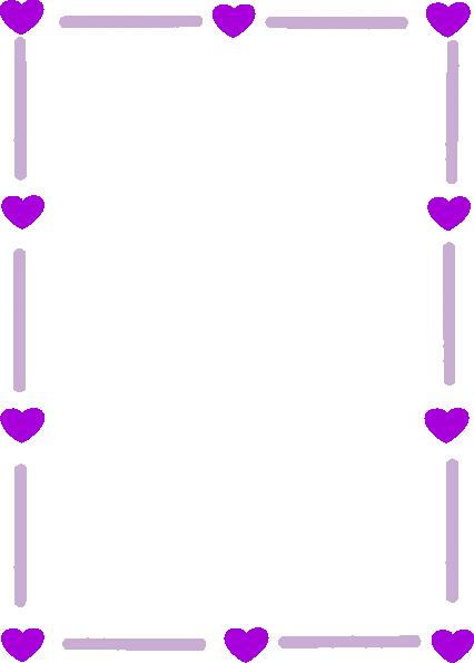 purple borders and frames silver purple heart border