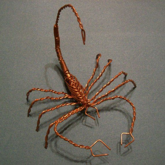 Copper wire scorpion by coppershop on etsy art projects for Wire art projects