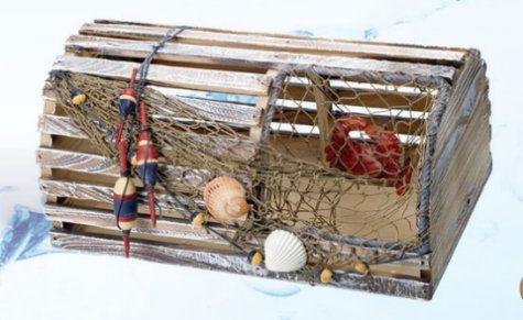 Medium Decorative Crab Trap Ocean Fun Home Deco Lobster Trap