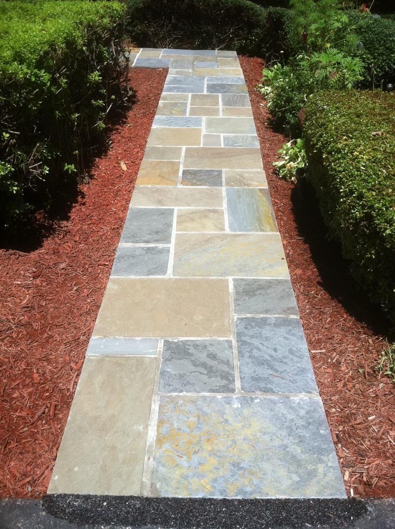 19 Home Walkway Design Ideas | Walkways, Flagstone and Patios