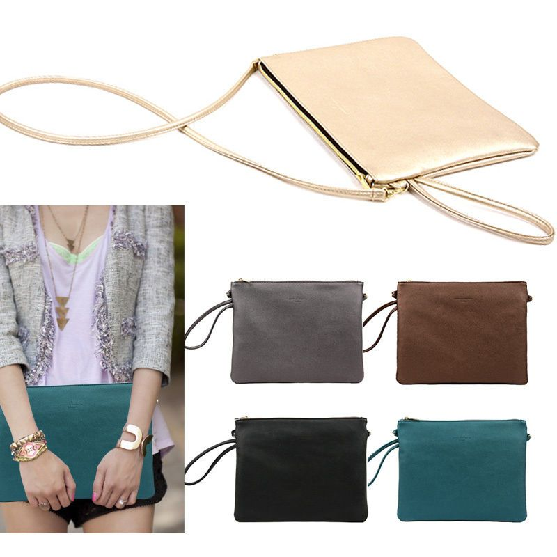Style2030 NEW KOREA Womens Oversized Envelope Glossy Day Clutch Bags Purse #Style2030 #Clutch