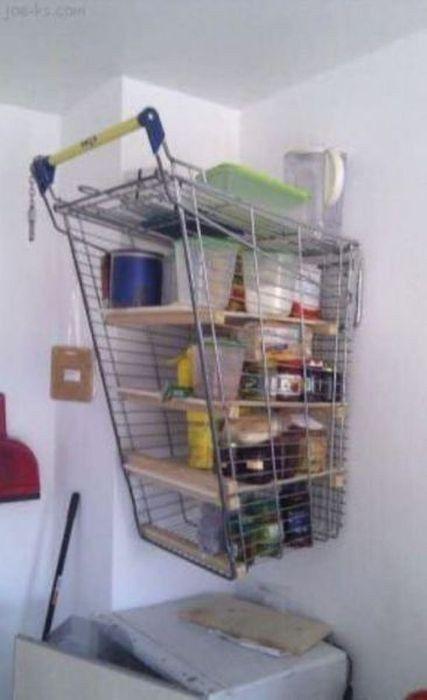 inventos caseros rudimentarios que realmente funcionan estantera carrito de la compra trucoscaseros ideasingeniosas