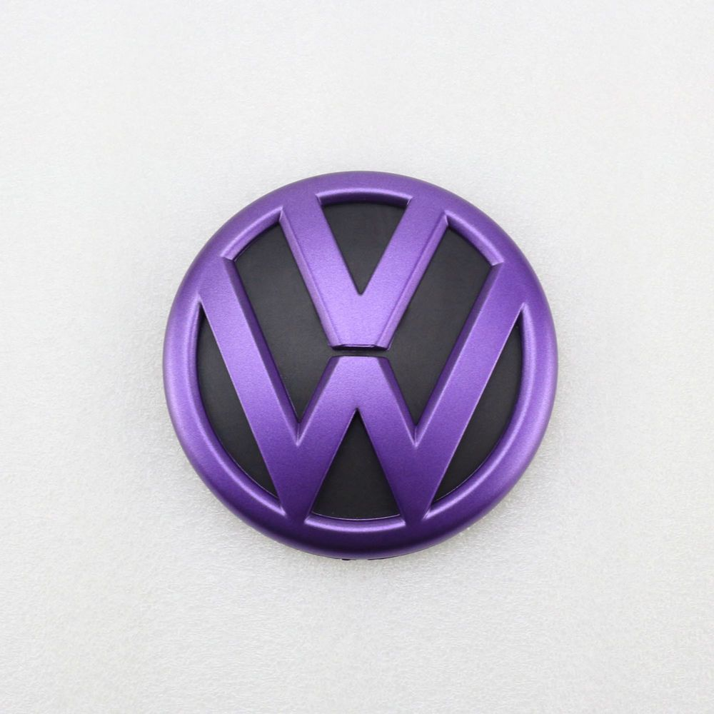 Purple Black Rear Trunk Lid Emblem Badge Replacement For