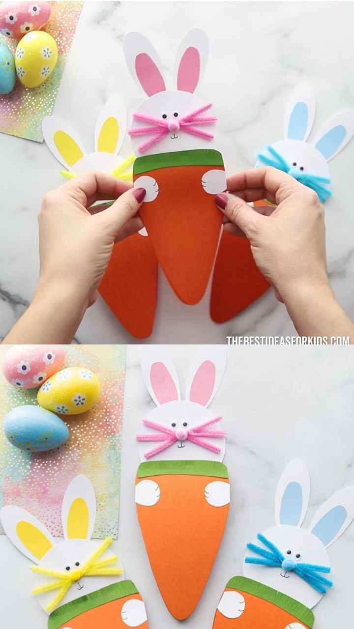 Photo of EASTER BUNNY 🐰 & CARROT 🥕 CARD – Sahra&Vatertag