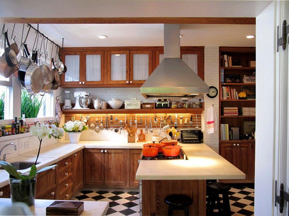 Cozinha de fazenda moderna