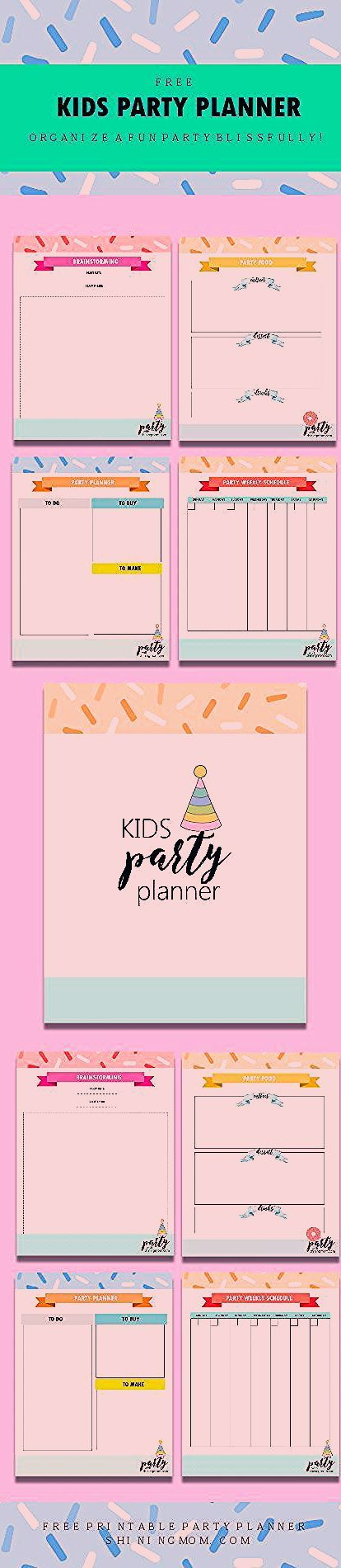 Photo of FREE Printable Kids Party Planner: Organize a Party Like a Pro!