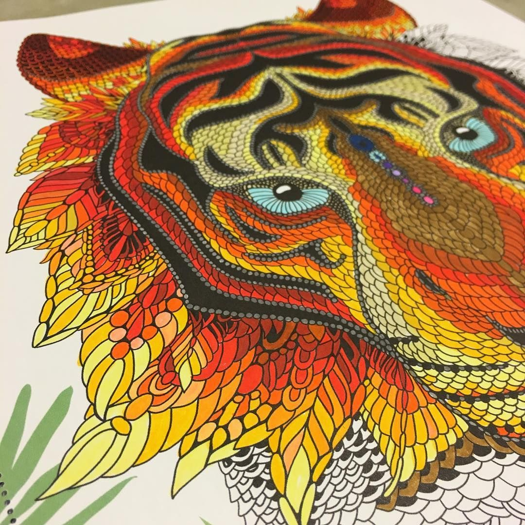 Blueberryjellybean On Instagram I Never Knew Coloring In Tiny Spaces Would Be So Therapeutic And Coloring Books Animal Coloring Books Basford Coloring Book