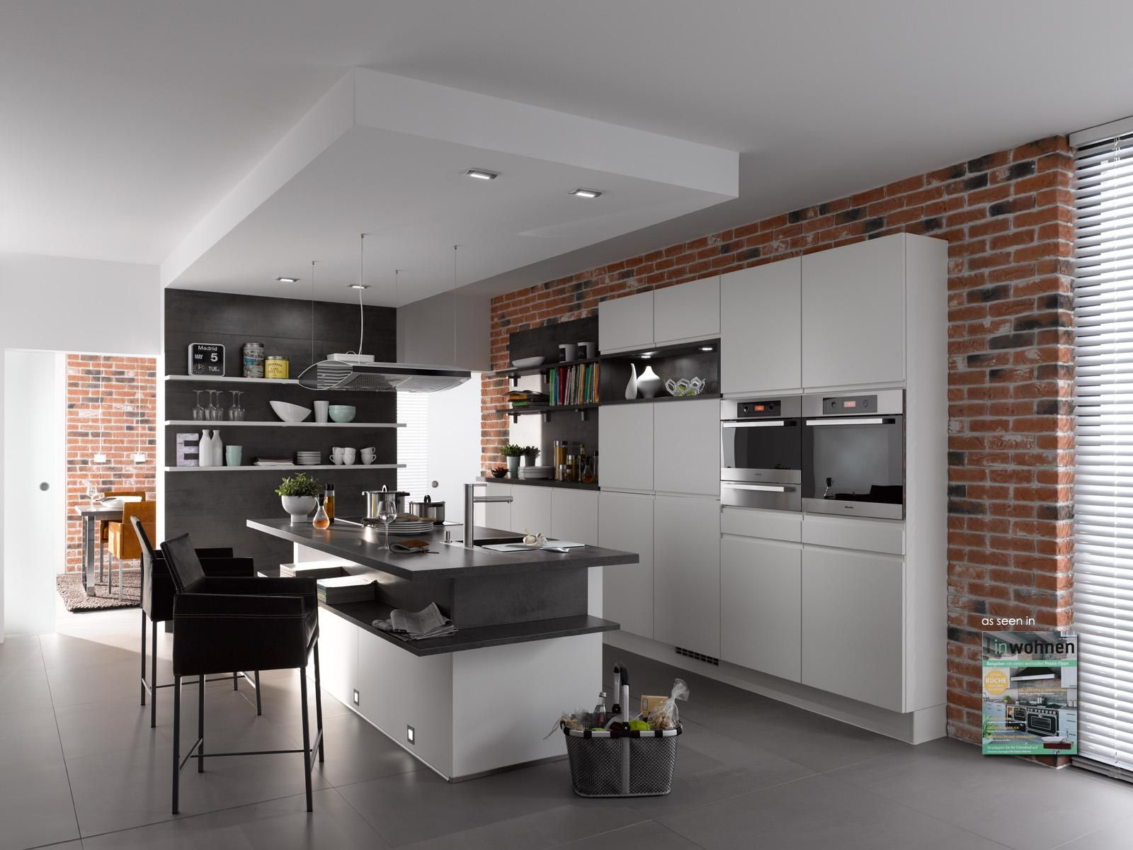 Red Brick Flooring Kitchen Klimexmilano Loft Red Brick Veneer In A Modern Kitchen Application