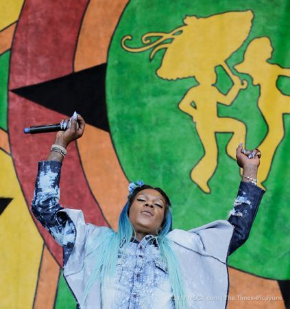 Big Freedia and her dancers perform on the Congo Square Stage during the New Orleans Jazz & Heritage Festival on Saturday, May 6, 2017