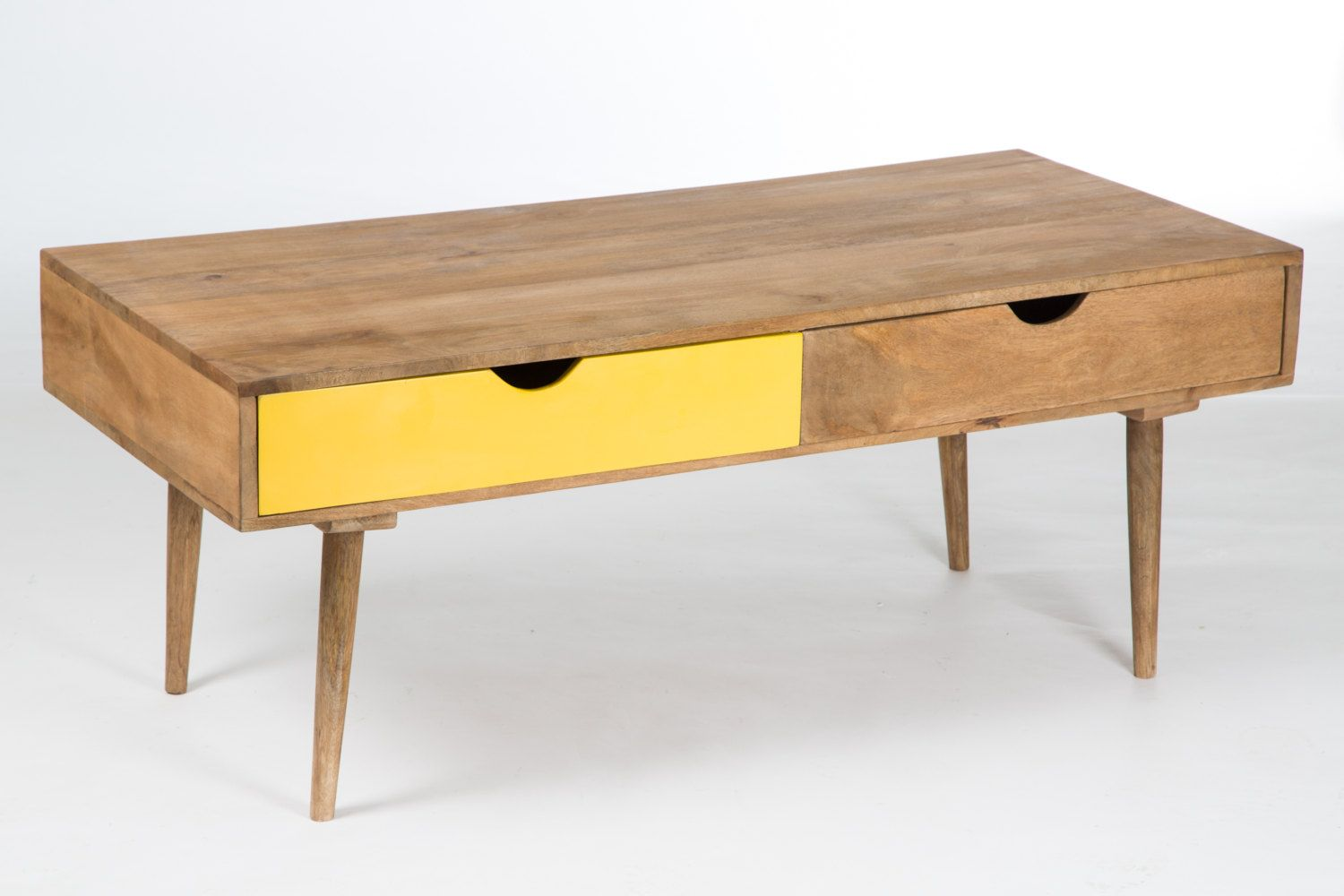 Scandinavian coffee table wood 4 drawers 499 00 EUR by