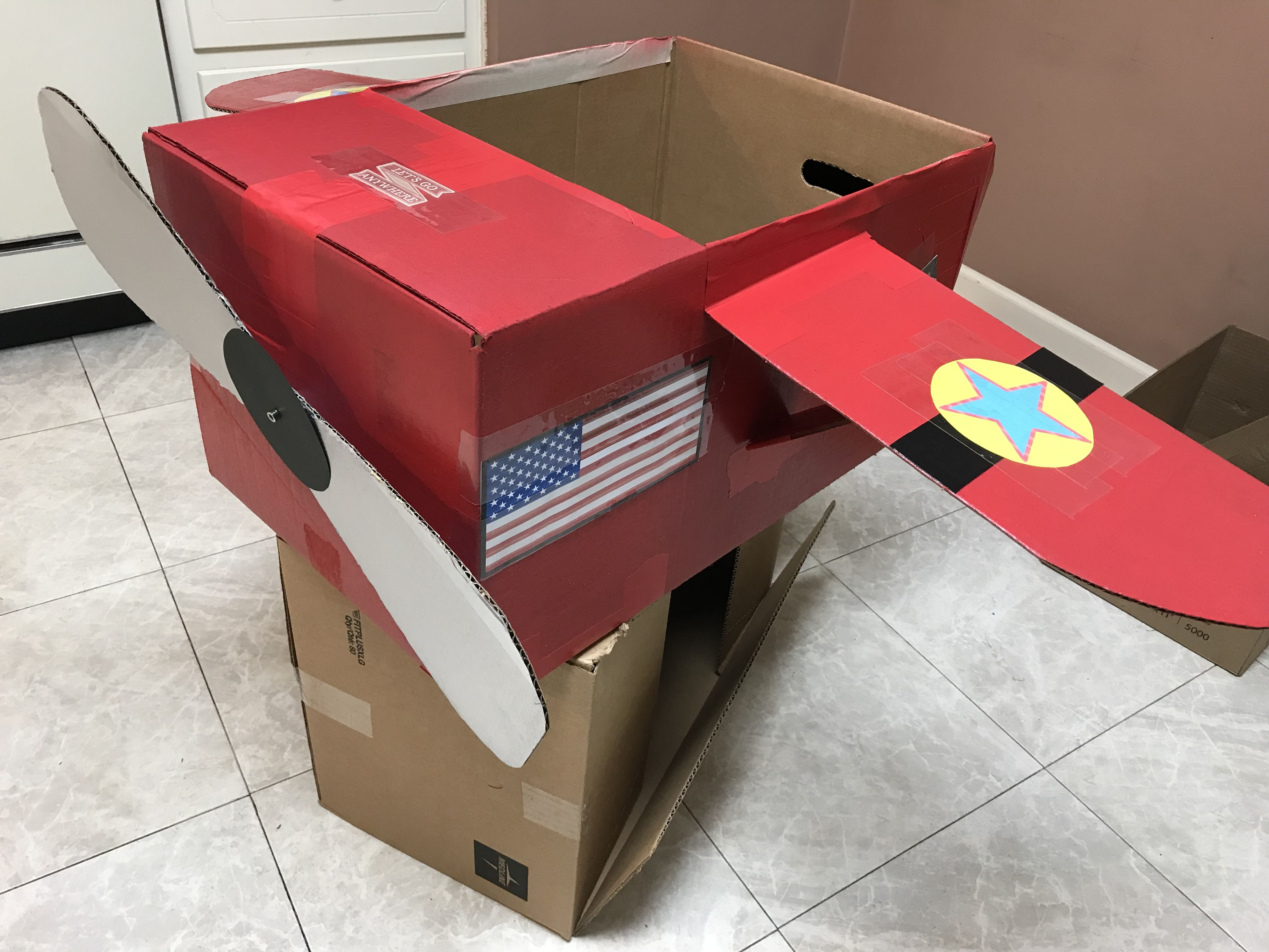 Cardboard Plane For My Amelia Earhart Costume Amelia Earhart Costume Amelia Earhart Amelia Earhart Projects
