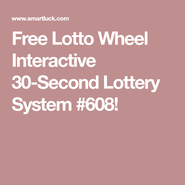 Free Lotto Wheel Interactive 30-Second Lottery System #608