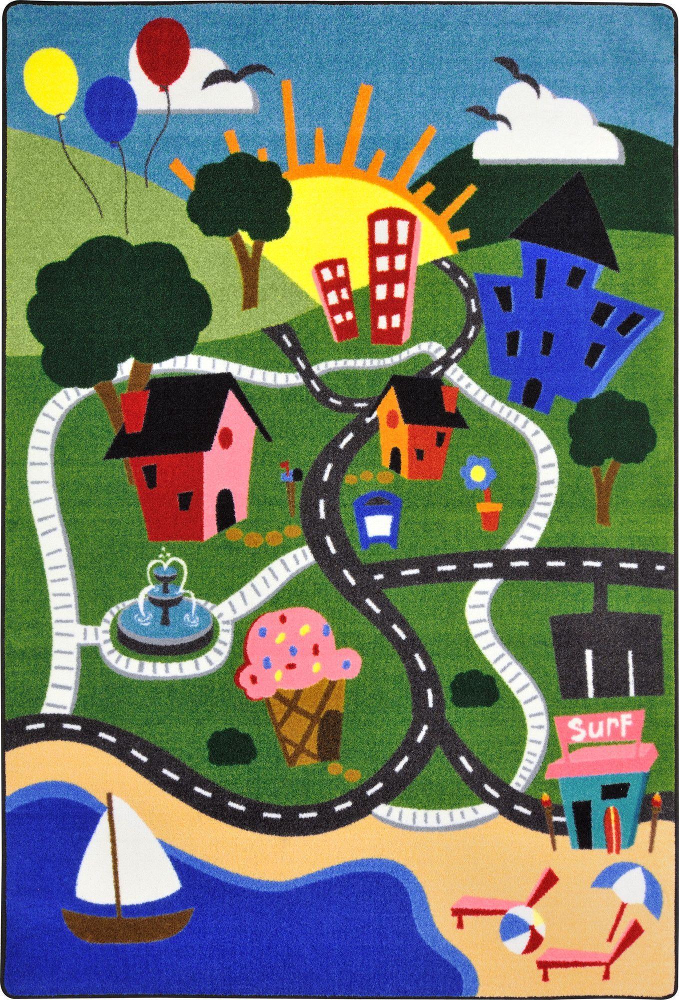 Green Area Rug Kids area rugs, Rugs, Kids rugs