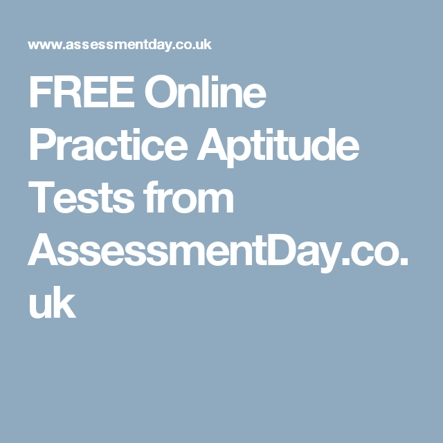 FREE Online Practice Aptitude Tests from AssessmentDay.co.uk ...
