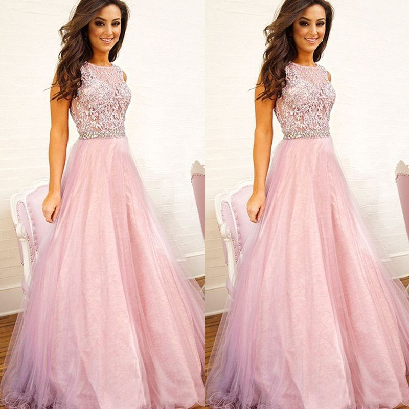 The+Pink+prom+dresses+are+fully+lined,+8+bones+in+the+bodice,+chest+ ...