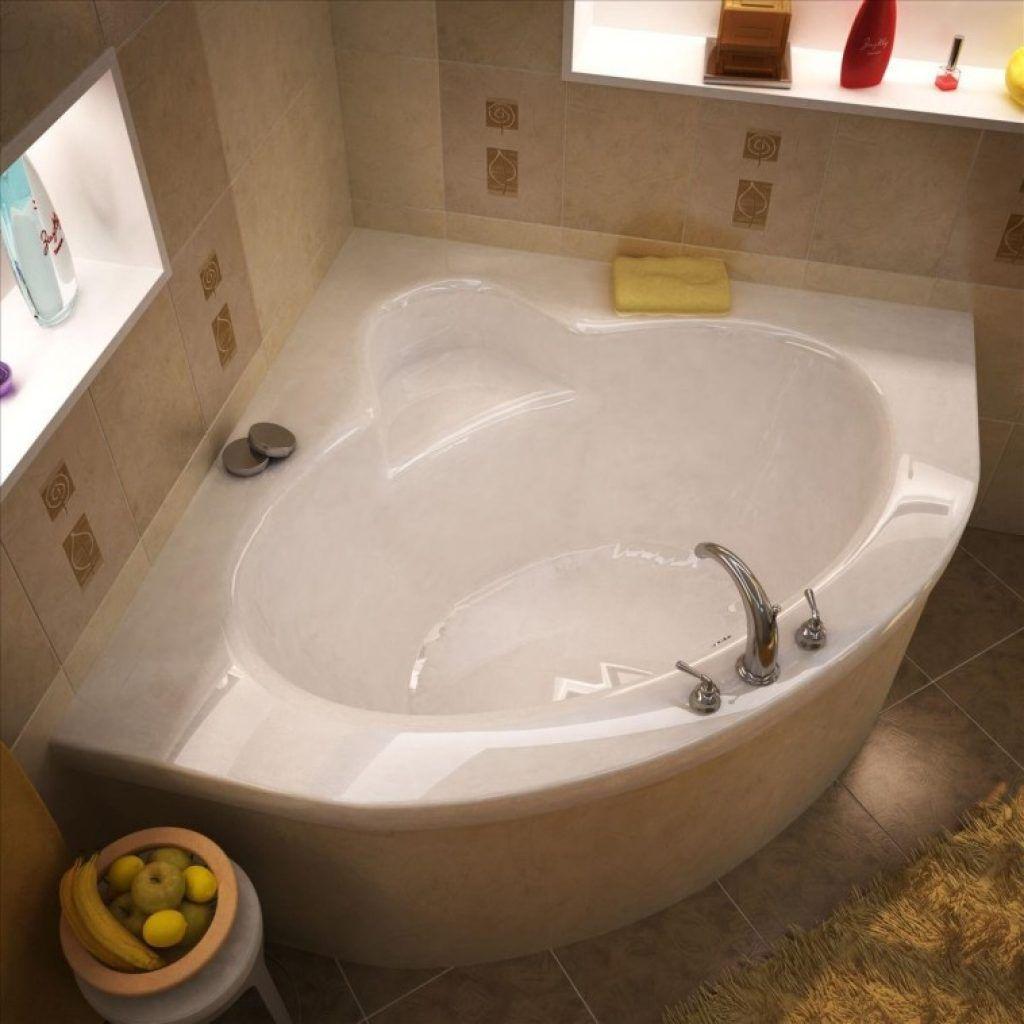 Awesome Small White Fiberglass Corner Soaking Tubs Decor With ...