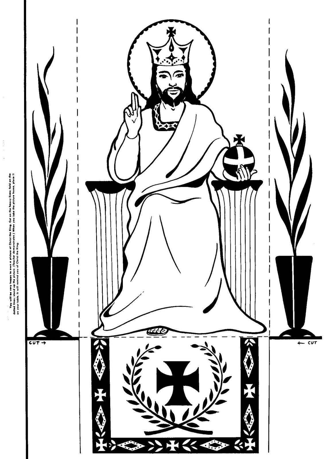 Coloring pages of jesus standing ~ Fold on the dotted lines to stand up the picture! Christ ...
