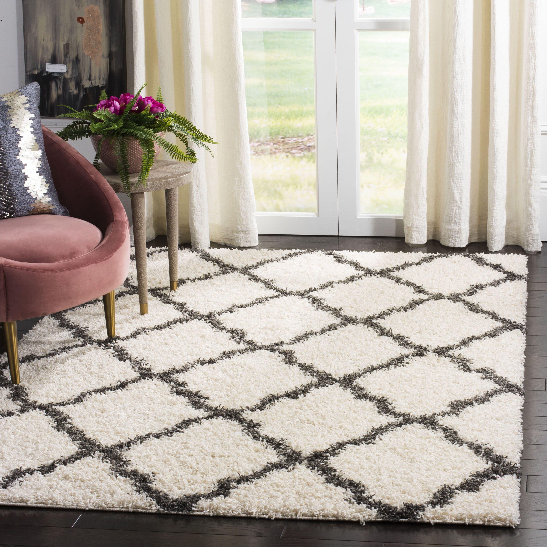 Safavieh Daley Geometric Plush Shag Area Rug Or Runner Walmart Com Shag Area Rug Area Rugs Plush Carpet