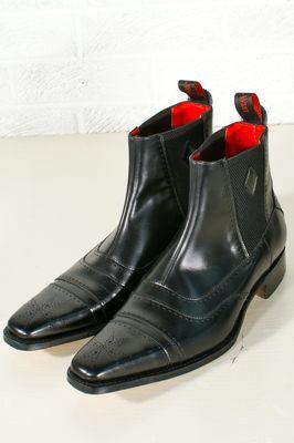 Jeffery West MURPHY STUDDED SOFT POINT CHELSEA - Cowboy/Biker boots - black 5rgzlozg7G