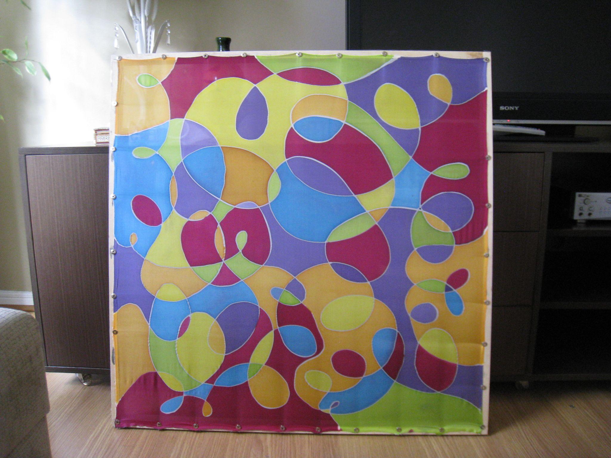 20892d88b53 Lenço 90 x 90 cm pintura em seda pura. Angela Cantele