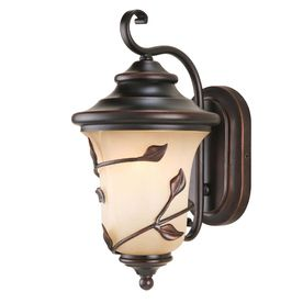 Allen And Roth Outdoor Lighting 15 1 4 In Bronze Wall Light Fym1791am 2