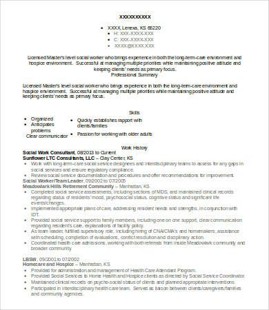 Social Worker Resume Templates 12 Free Ms Word Pdf Resume