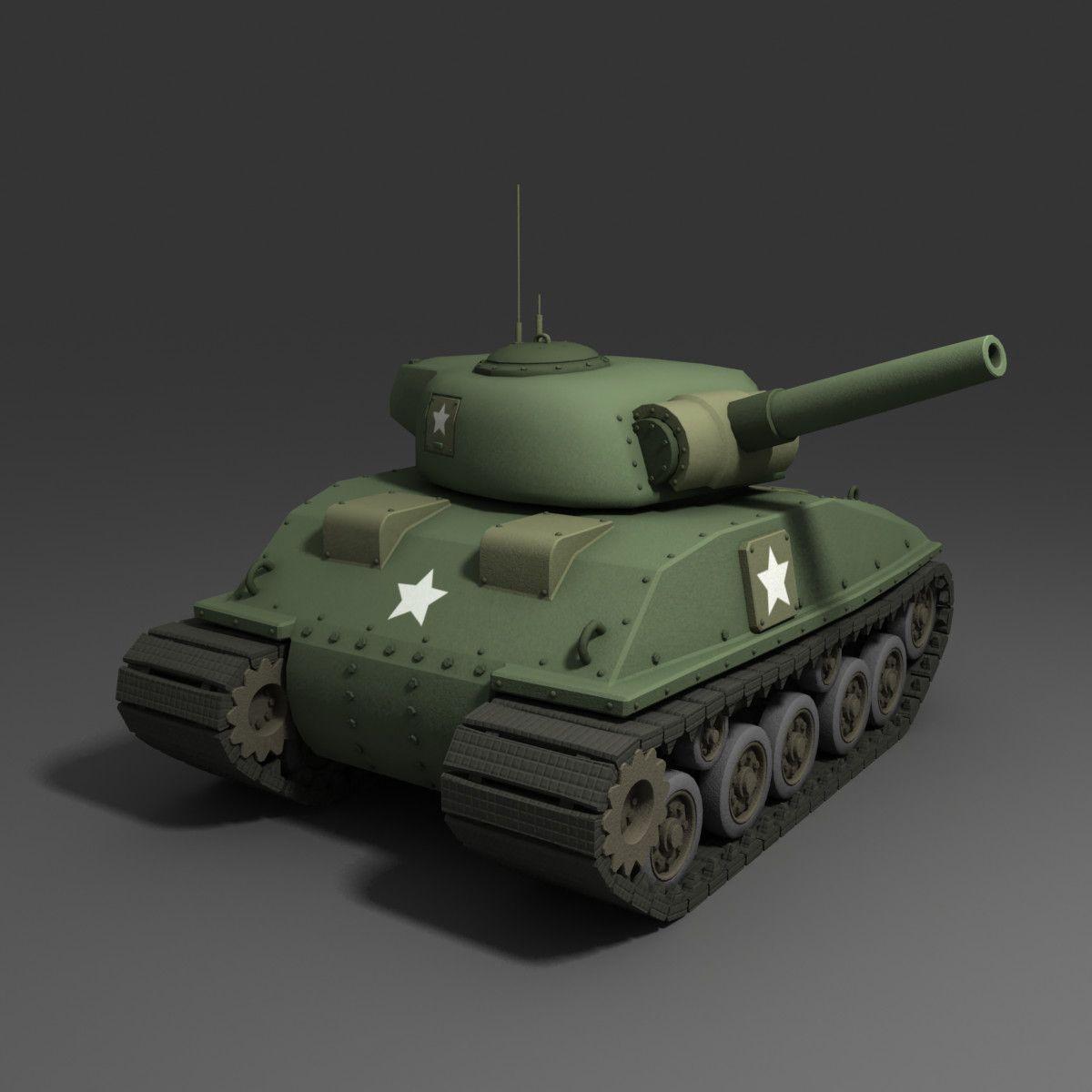 Http turbosquid d models cartoon tank sherman