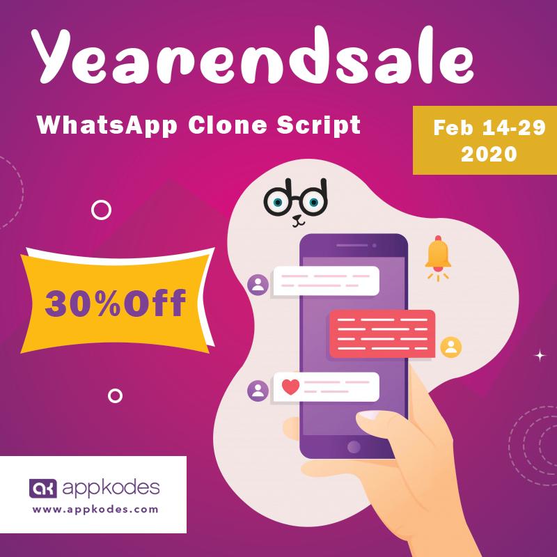 Whatsapp clone Appkodes Yearendsale in 2020 Instant
