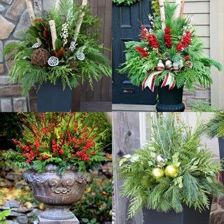 Easiest 5 Minute 'Bleached Pinecones' {without Bleach!} 24 Stunning Christmas pots and planters to DIY for almost free! How to create colorful winter planters as beautiful Christmas outdoor decorations, with evergreens, berries, pinecones, branches, & creative elements! - A Piece of Rainbow