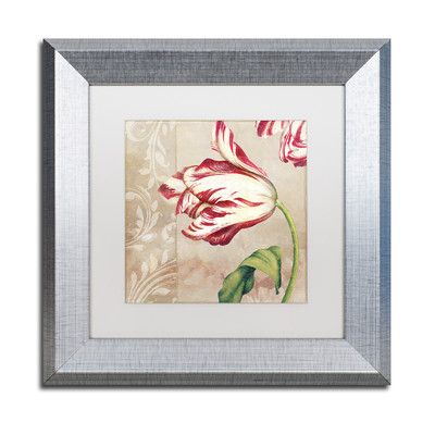 Trademark Art 'Peppermint Tulips II' by Color Bakery Framed Graphic Art