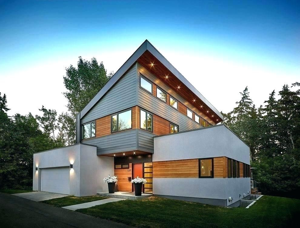 image result for stucco and plank contemporary house on modern house designs siding that look amazing id=44705