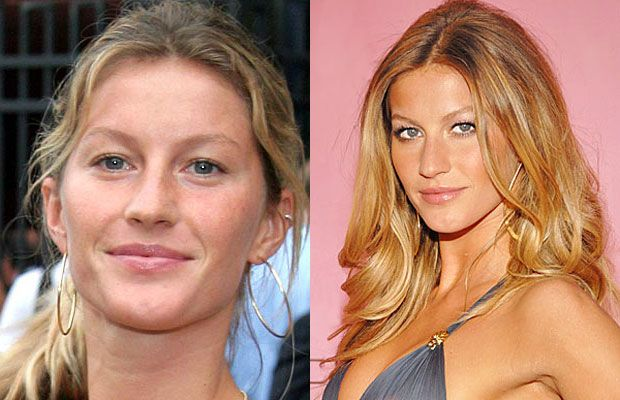 30 Shocking Photos Of Supermodels Without Makeup26 Gisele Bundchen Victorias Secret Models Models Without Makeup Supermodels