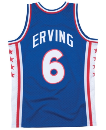 e6b8f4dae Mitchell & Ness Men's Julius Erving Philadelphia 76ers Hardwood Classic Swingman  Jersey - White/Blue S